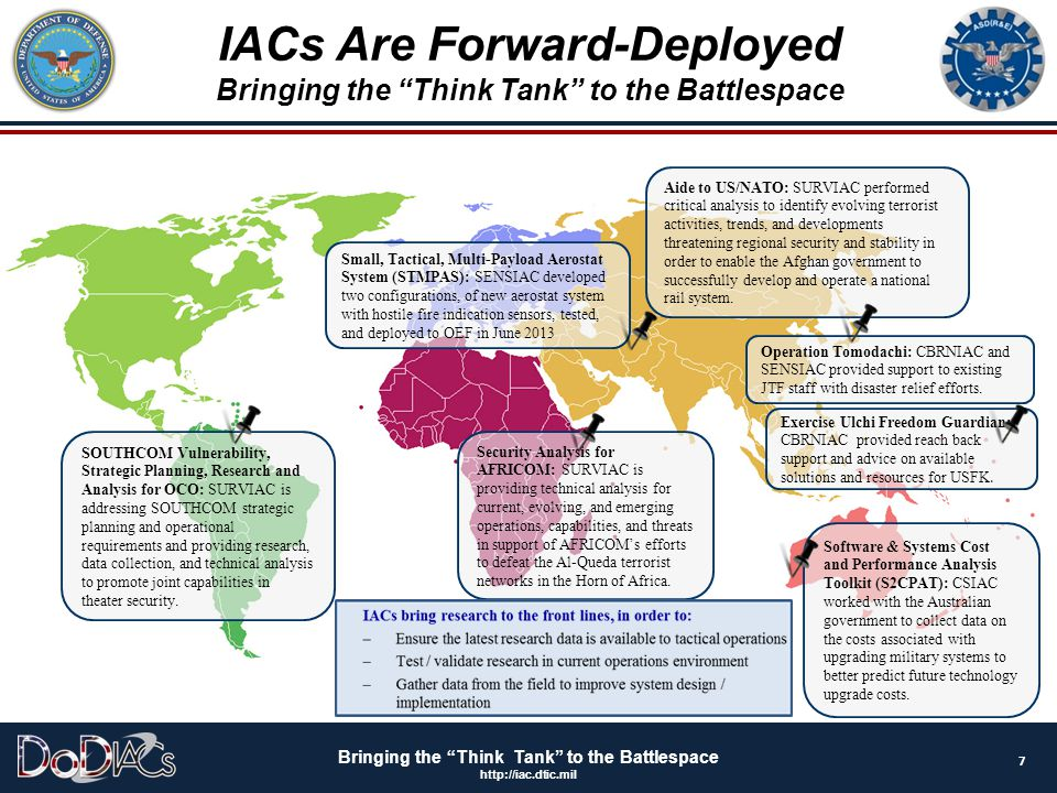 IACs Are Forward-Deployed Bringing the Think Tank to the Battlespace