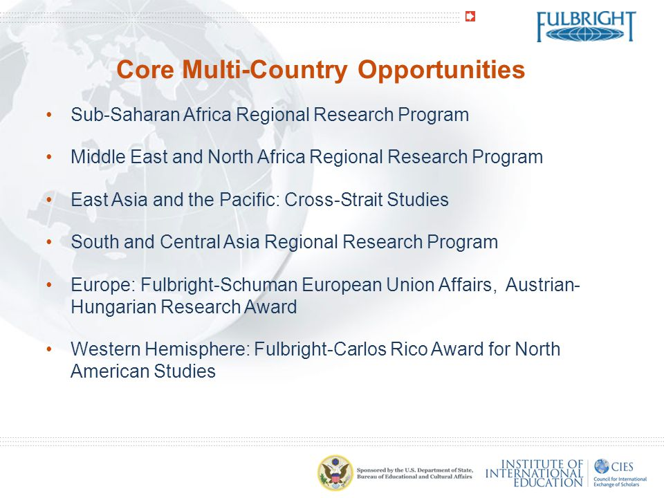 Core Multi-Country Opportunities