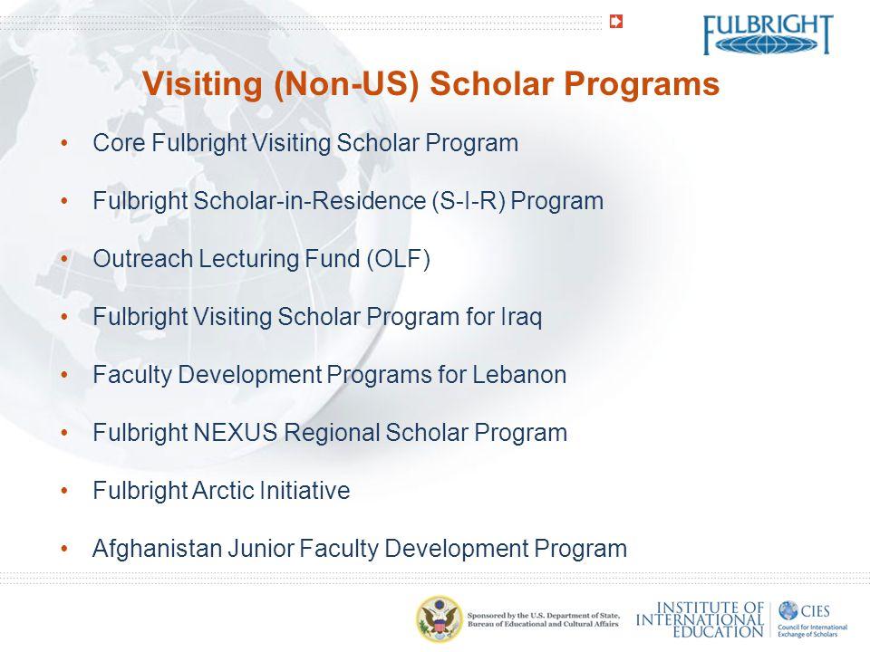 Visiting (Non-US) Scholar Programs