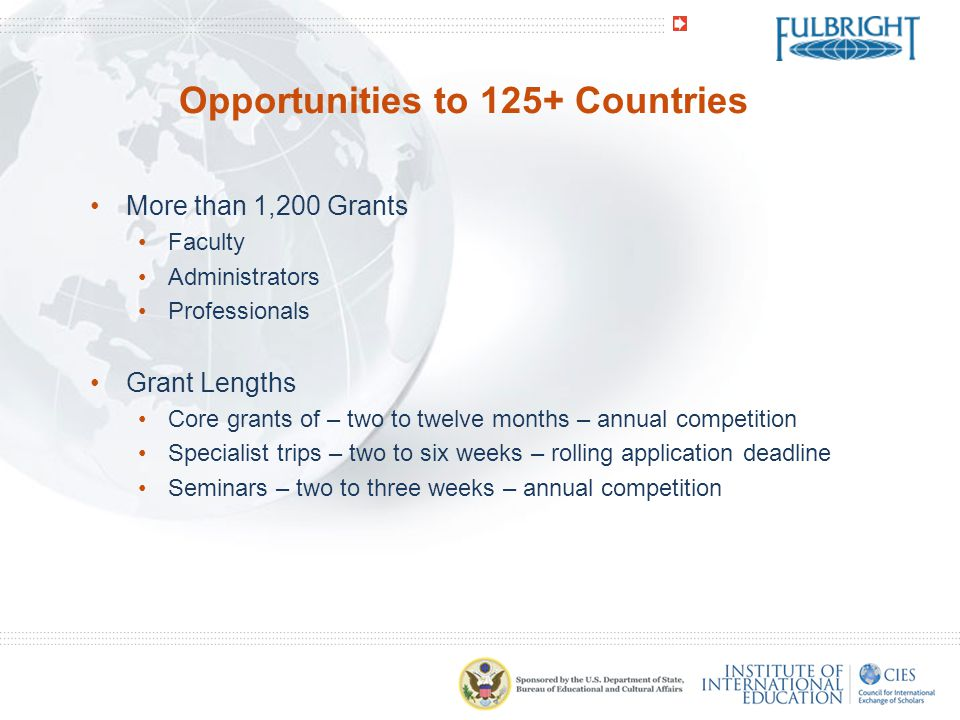 Opportunities to 125+ Countries