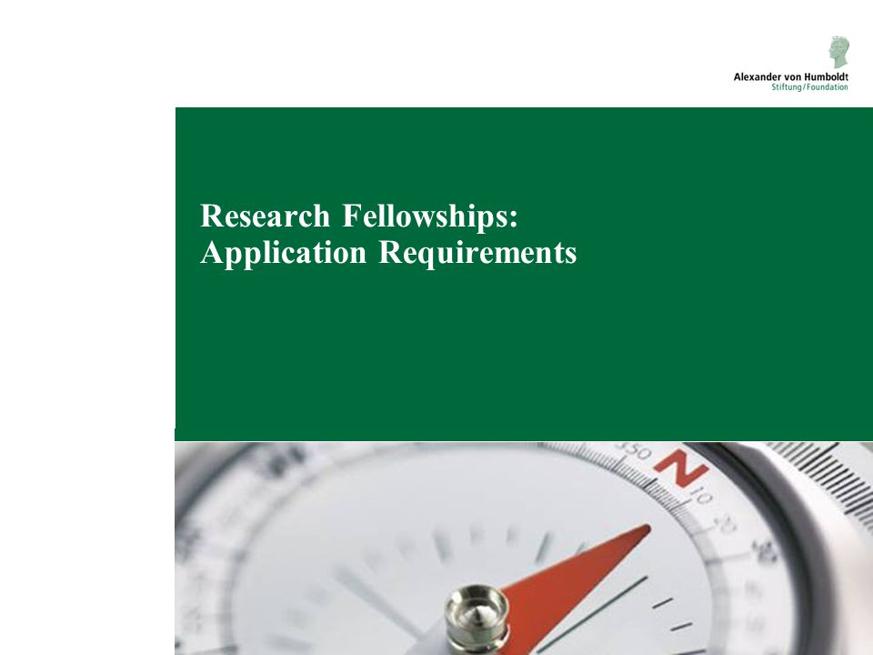 Research Fellowships: Application Requirements