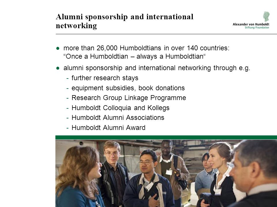 Alumni sponsorship and international networking