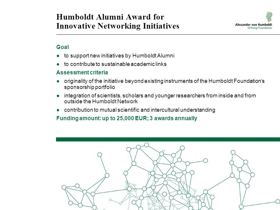 Humboldt Alumni Award for Innovative Networking Initiatives