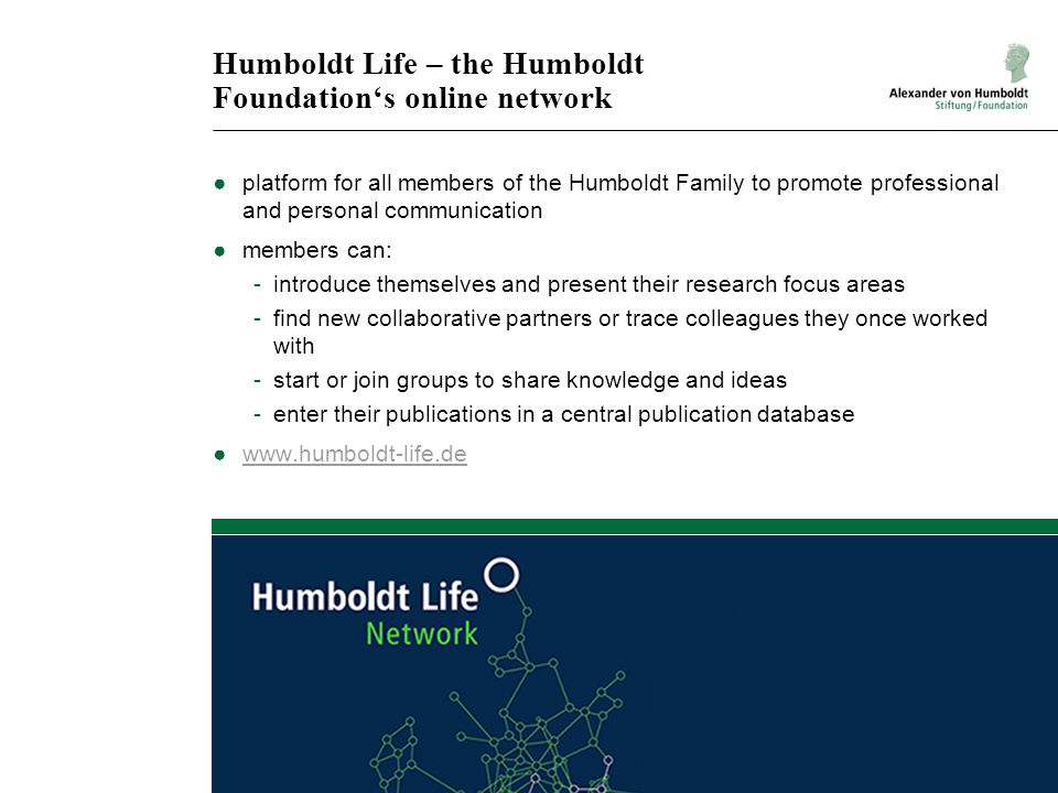 Humboldt Life – the Humboldt Foundation's online network