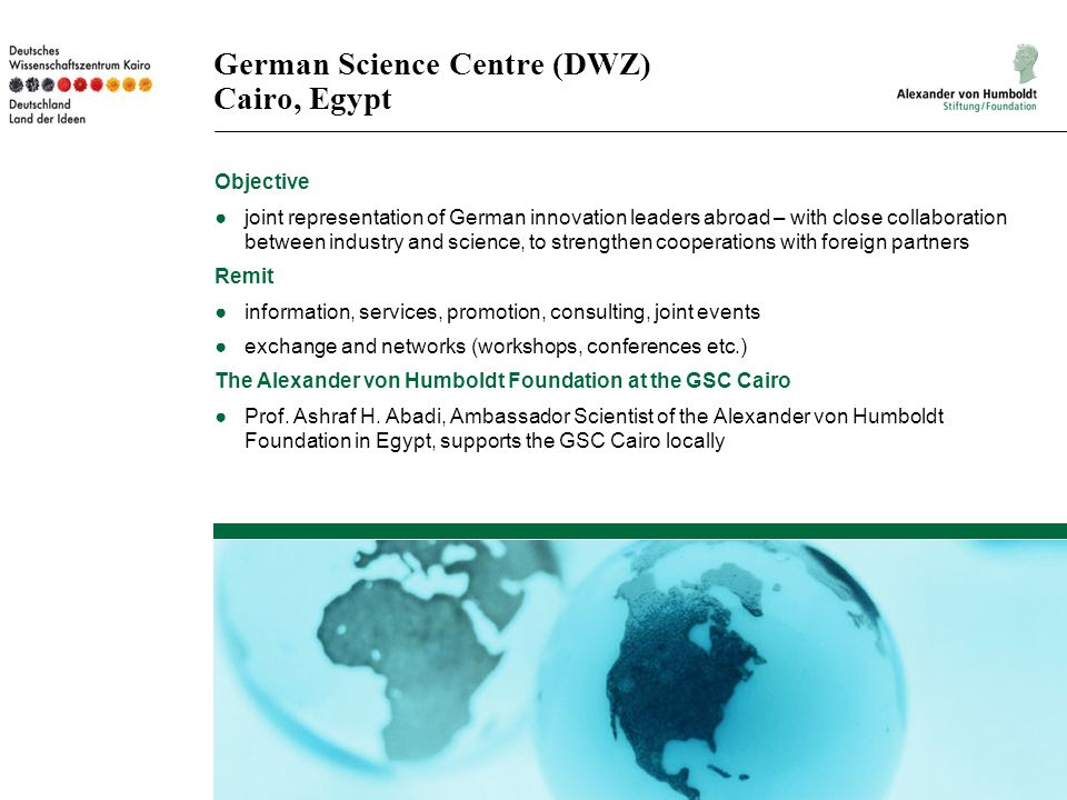 German Science Centre (DWZ) Cairo, Egypt