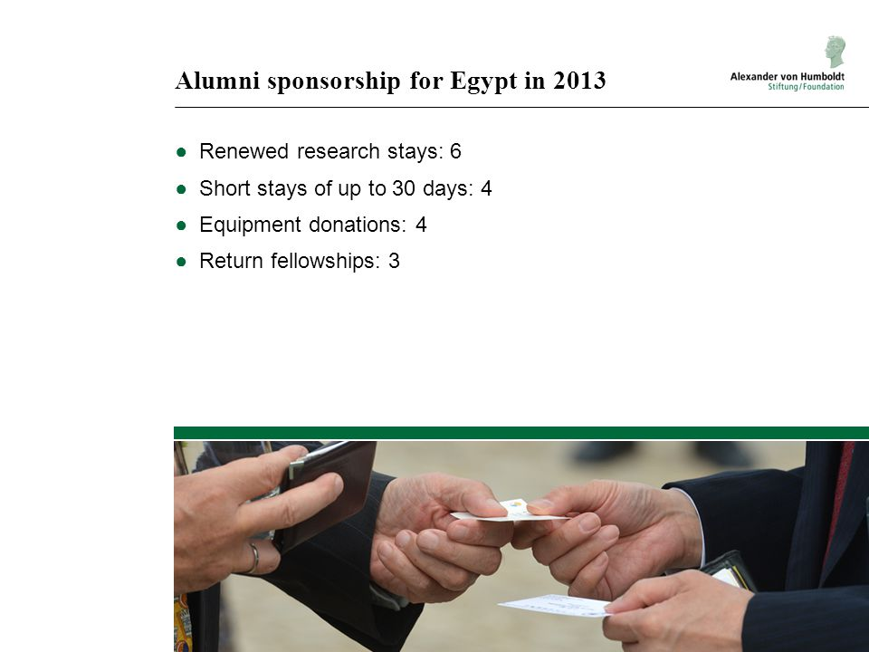 Alumni sponsorship for Egypt in 2013