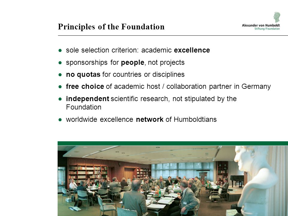 Principles of the Foundation