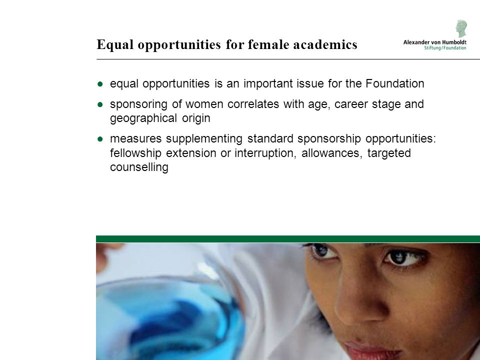Equal opportunities for female academics