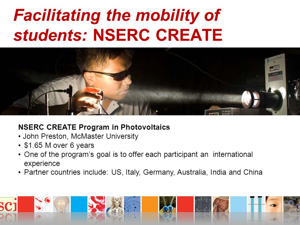 Facilitating the mobility of students: NSERC CREATE