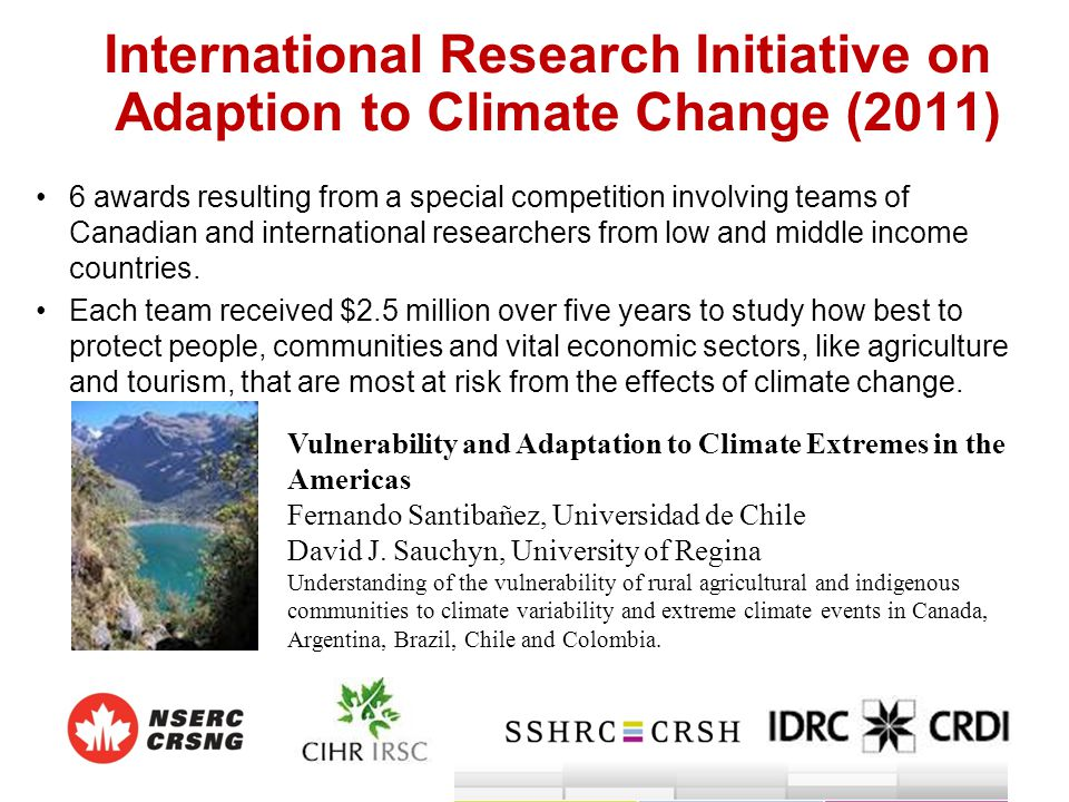 International Research Initiative on Adaption to Climate Change (2011)