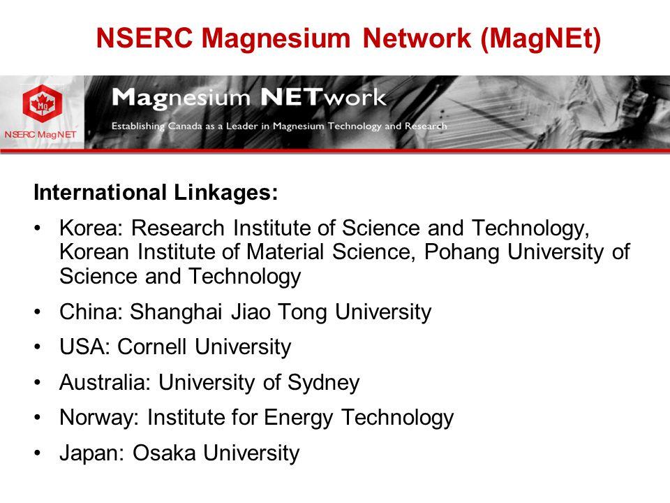 NSERC Magnesium Network (MagNEt)