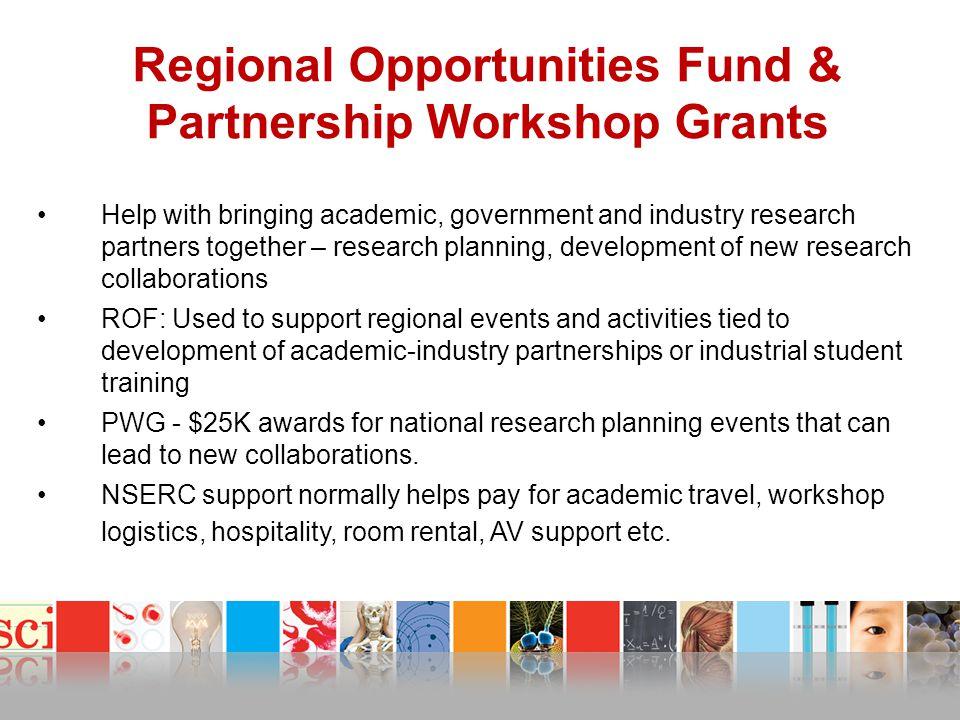 Regional Opportunities Fund & Partnership Workshop Grants