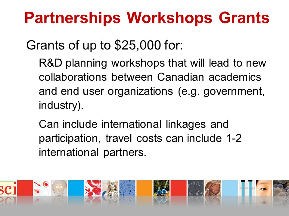 Partnerships Workshops Grants