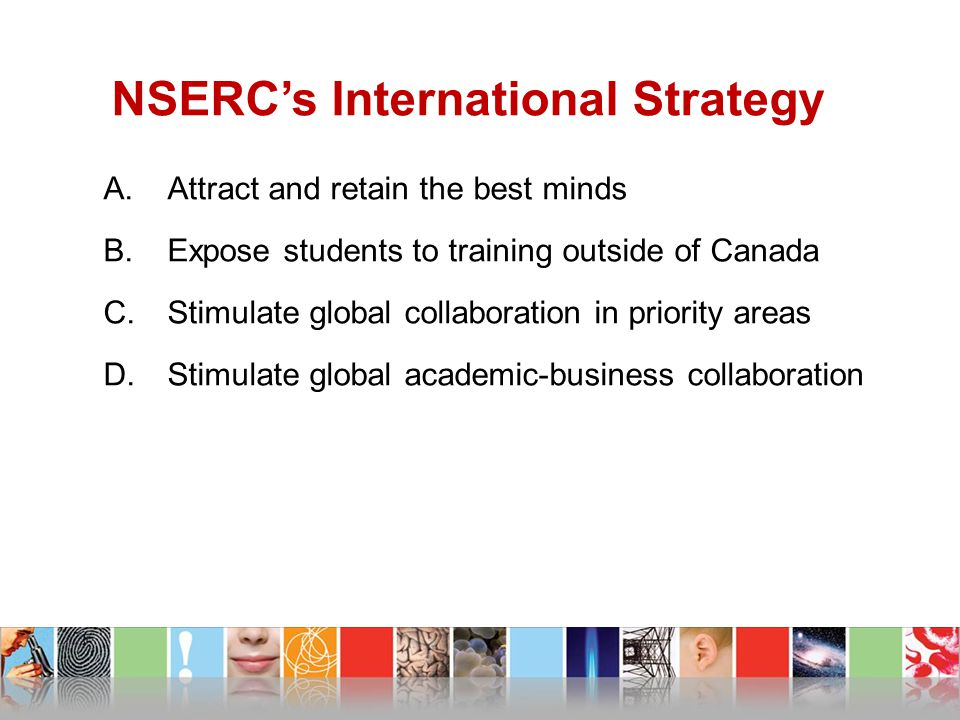 NSERC's International Strategy