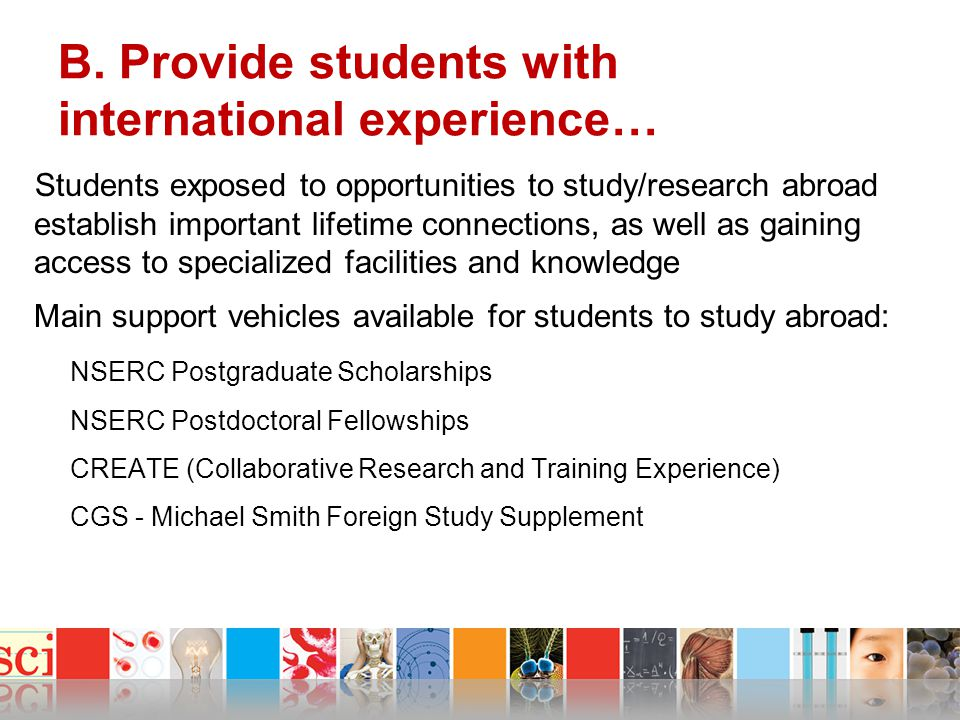 B. Provide students with international experience…