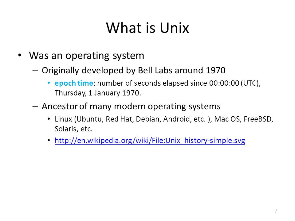 What is Unix Was an operating system