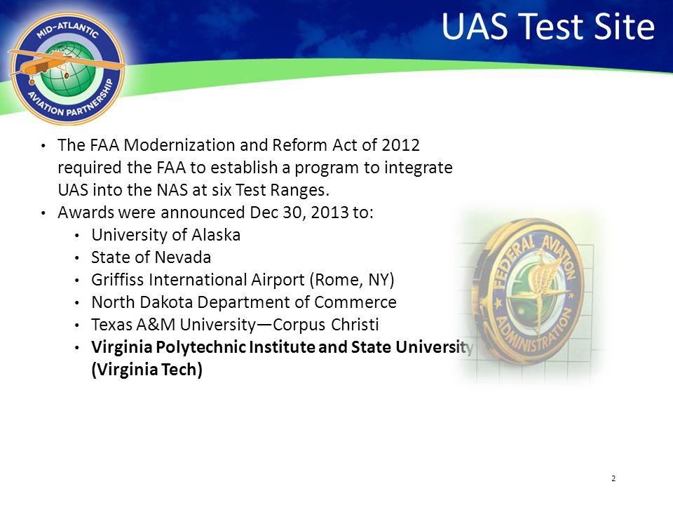 UAS Test Site 4/13/2017.