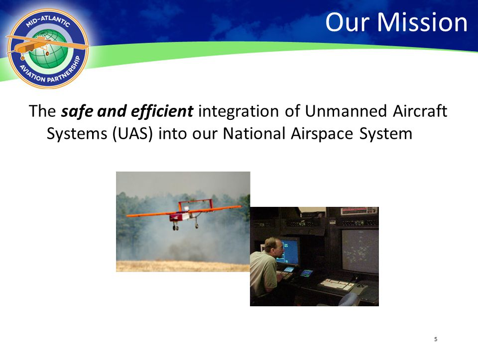 Our Mission 4/13/2017. The safe and efficient integration of Unmanned Aircraft Systems (UAS) into our National Airspace System.