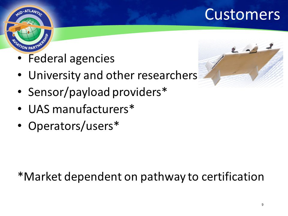 Customers Federal agencies University and other researchers