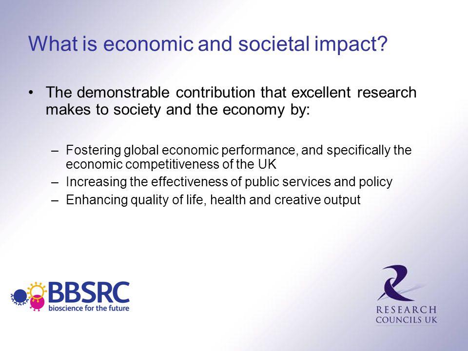 What is economic and societal impact