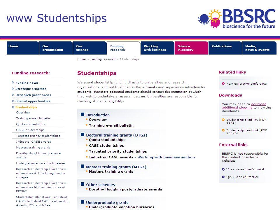 www Studentships