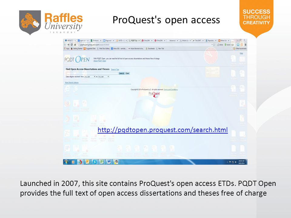 ProQuest s open access http://pqdtopen.proquest.com/search.html.