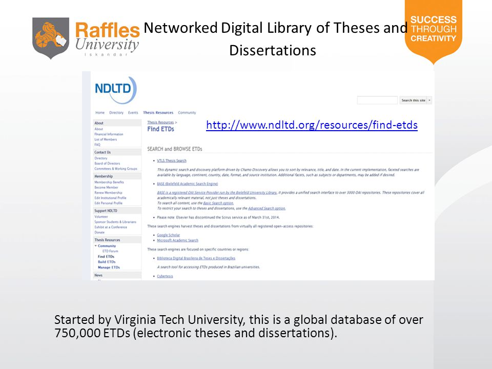 Networked Digital Library of Theses and Dissertations