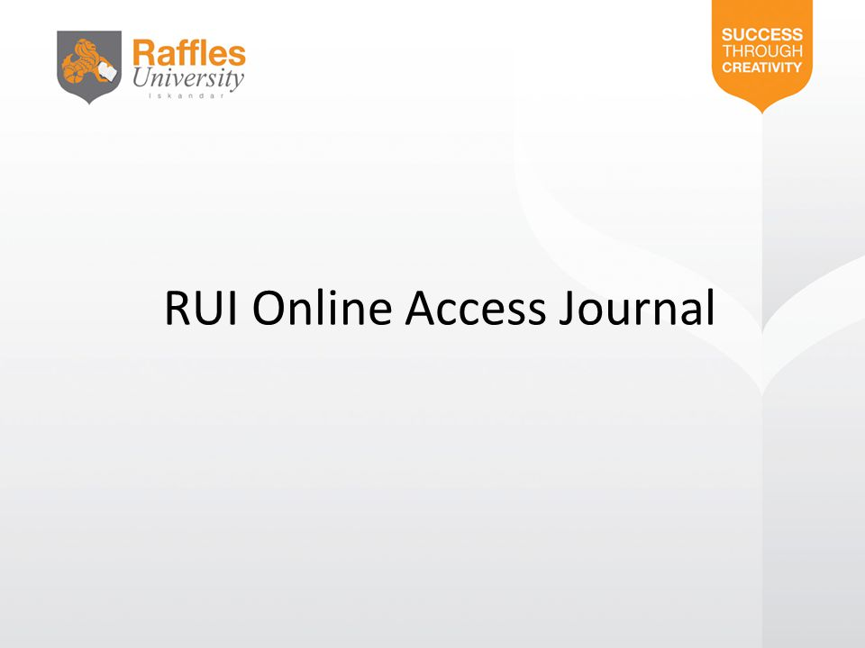 RUI Online Access Journal