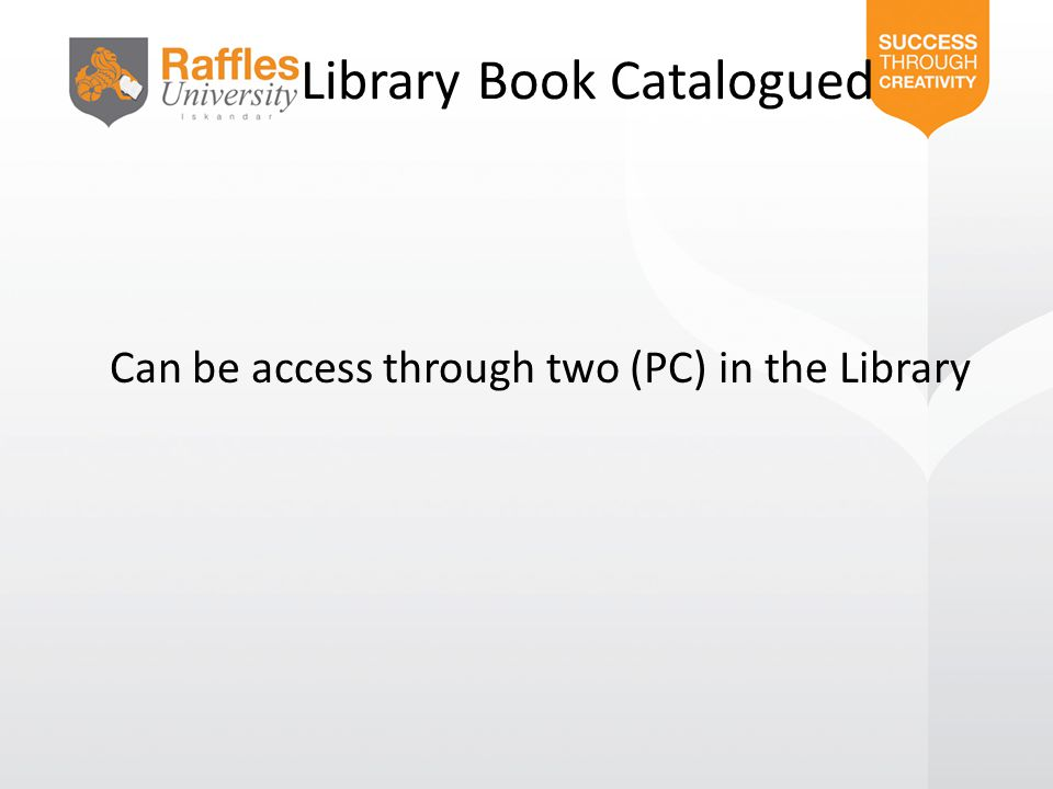 Library Book Catalogued