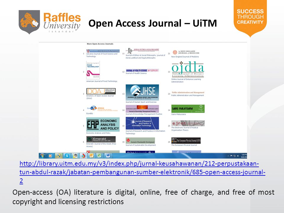 Open Access Journal – UiTM