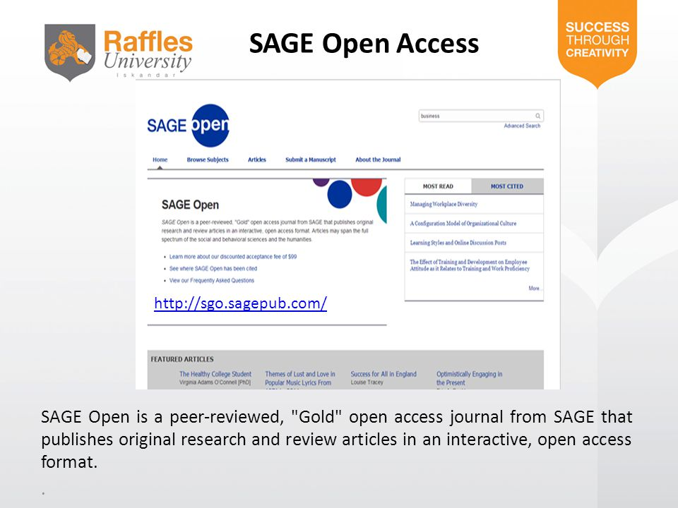 SAGE Open Access http://sgo.sagepub.com/