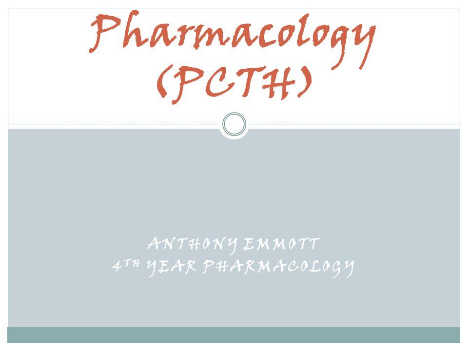 Anthony emmott 4th Year PHarmacology