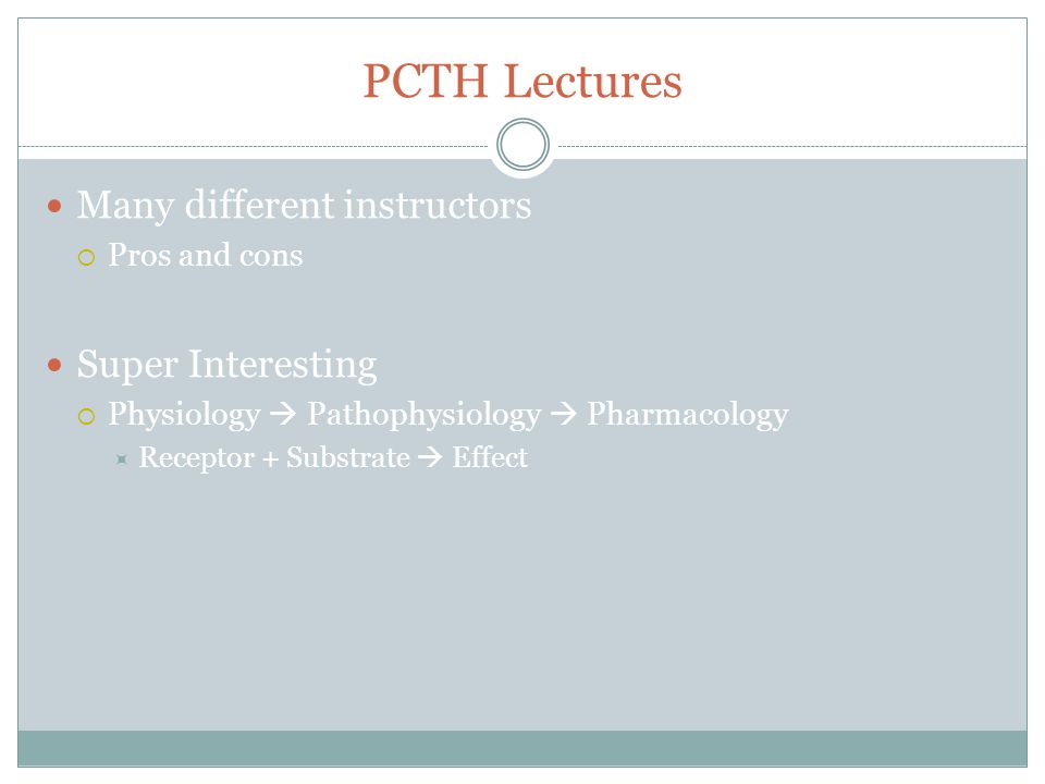 PCTH Lectures Many different instructors Super Interesting