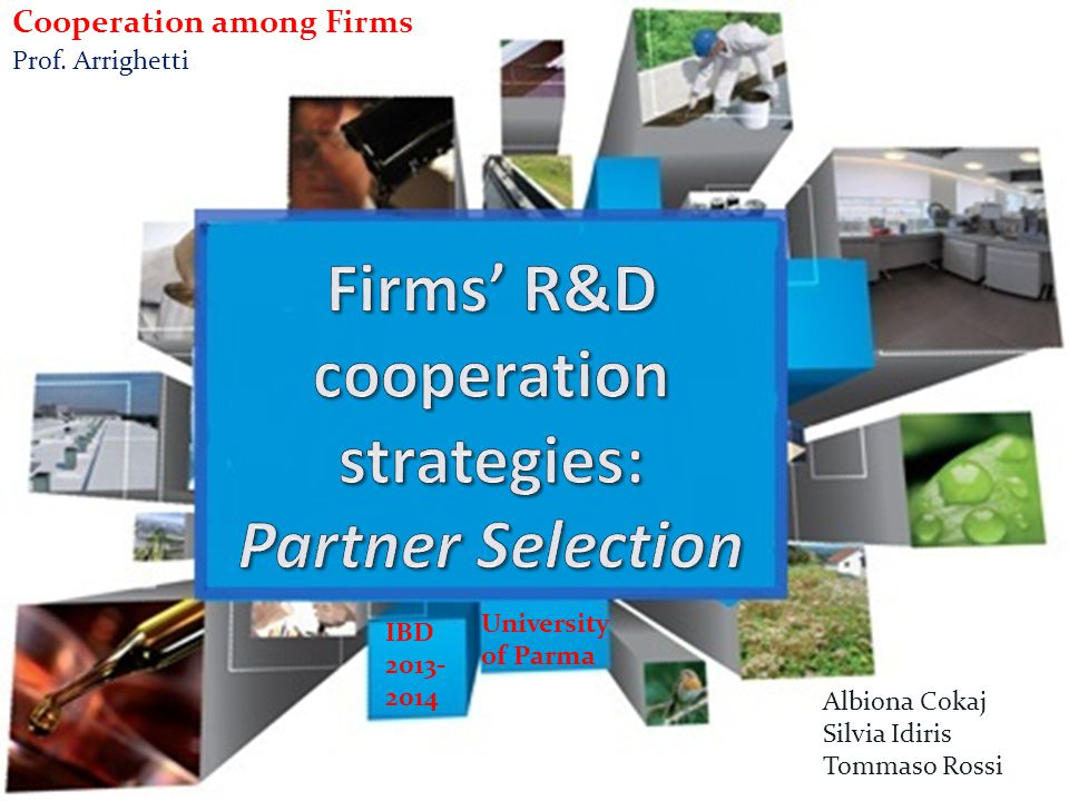 Firms' R&D cooperation strategies: Partner Selection