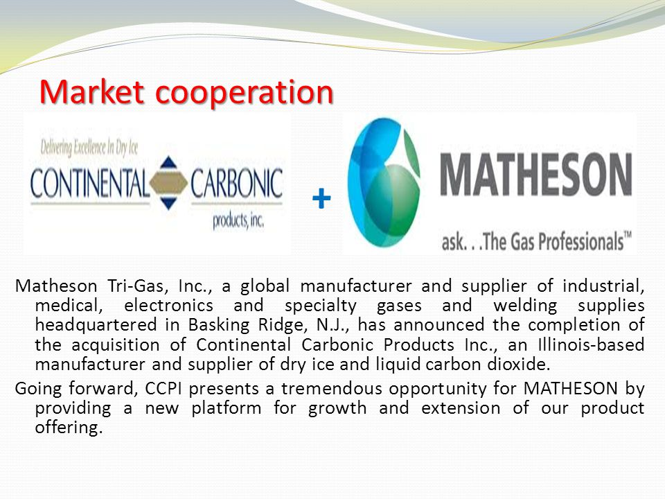 Market cooperation +