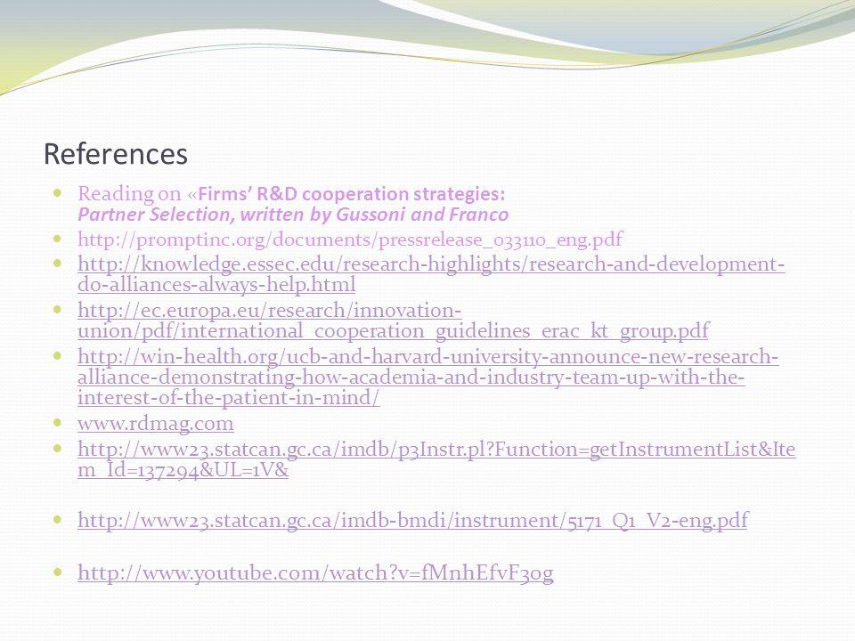References http://www.youtube.com/watch v=fMnhEfvF3og