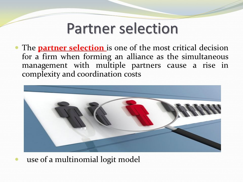 Partner selection