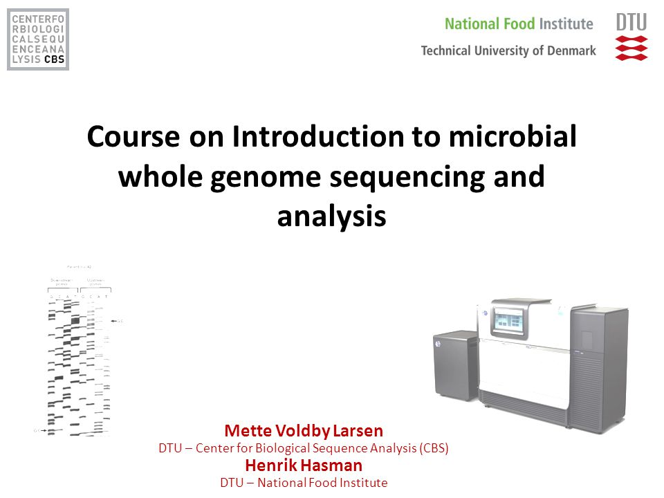Course on Introduction to microbial whole genome sequencing and analysis