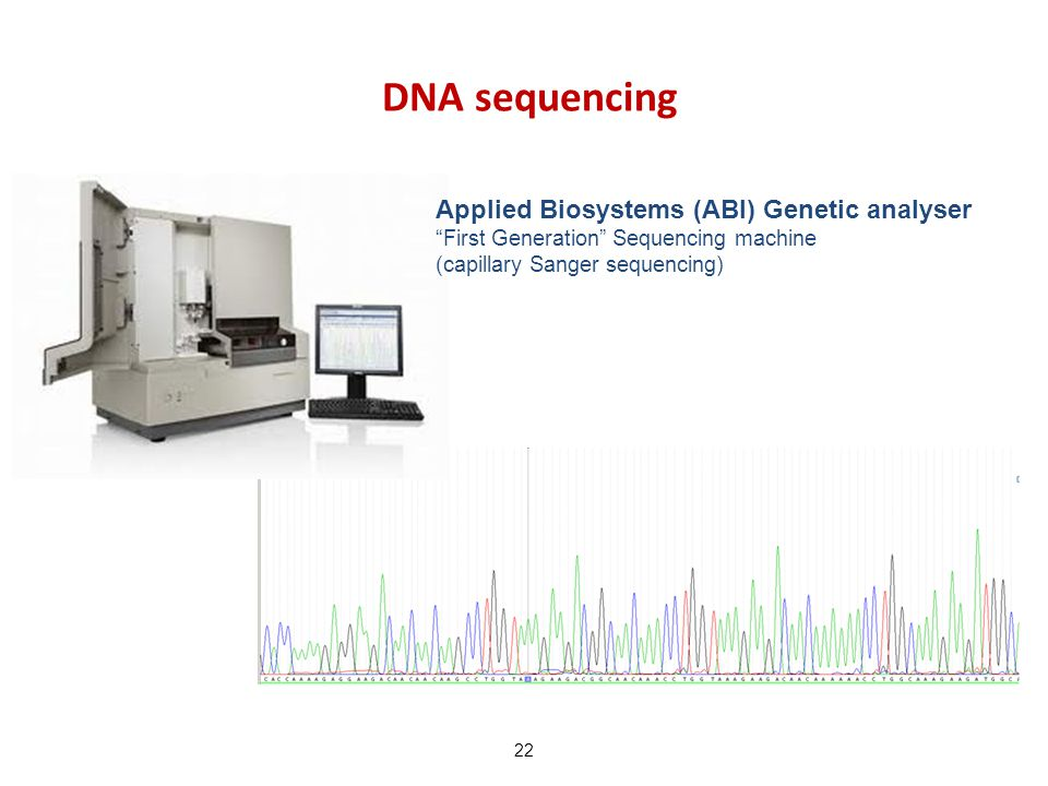 DNA sequencing Applied Biosystems (ABI) Genetic analyser