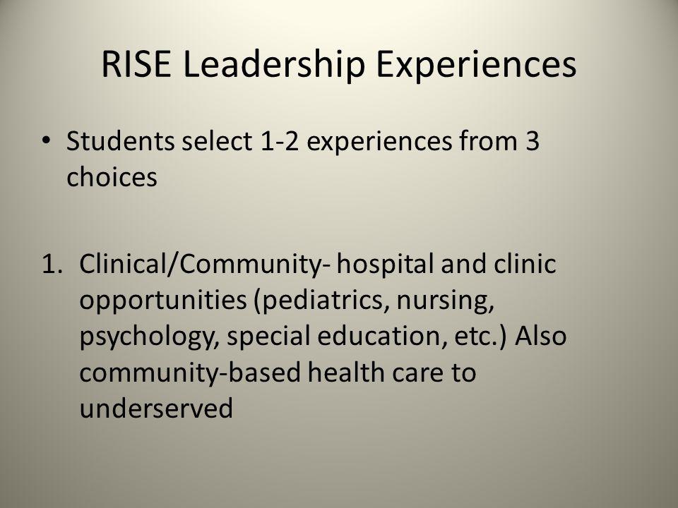 RISE Leadership Experiences