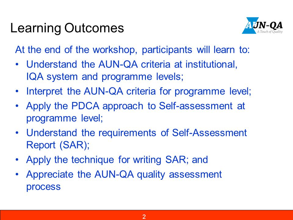 Learning Outcomes At the end of the workshop, participants will learn to: