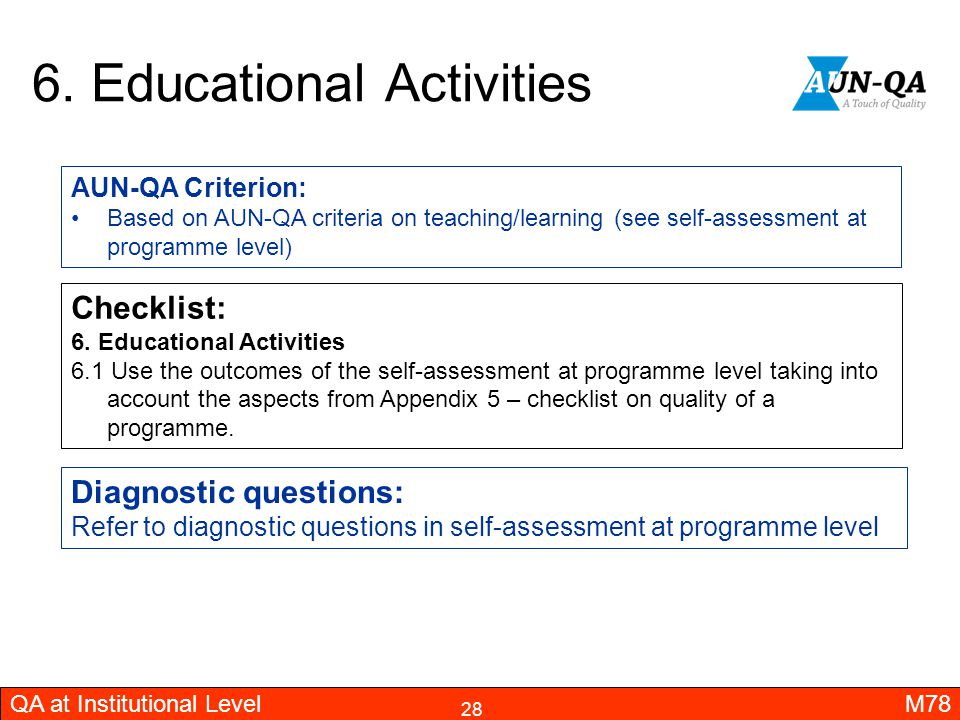 6. Educational Activities