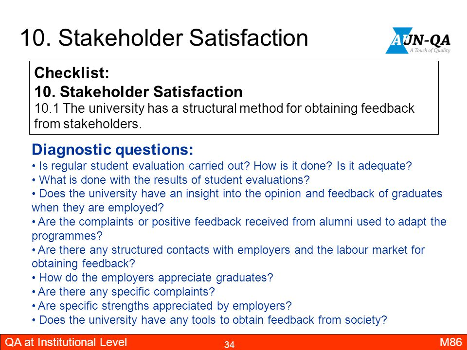 10. Stakeholder Satisfaction