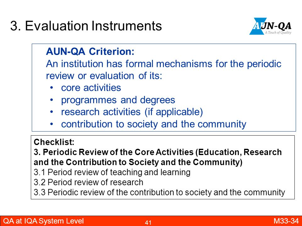 3. Evaluation Instruments