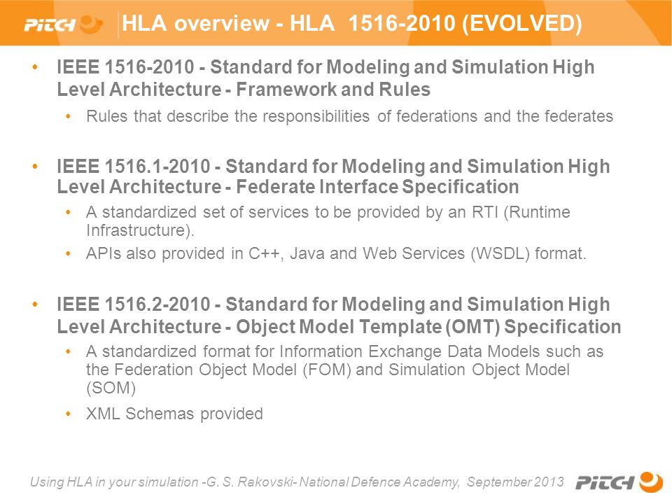 HLA overview - HLA 1516-2010 (EVOLVED)
