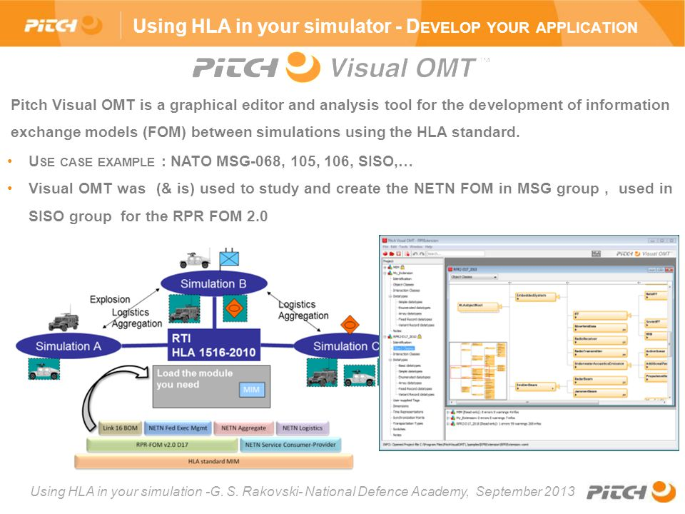 Using HLA in your simulator - Develop your application