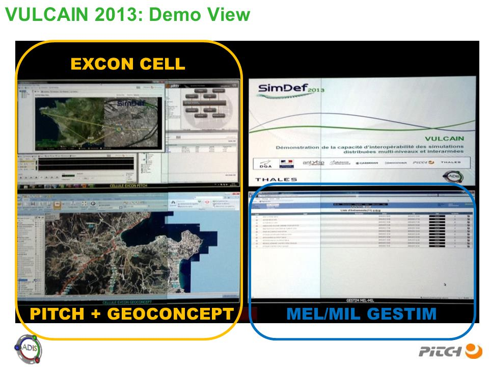 VULCAIN 2013: Demo View EXCON CELL PITCH + GEOCONCEPT MEL/MIL GESTIM