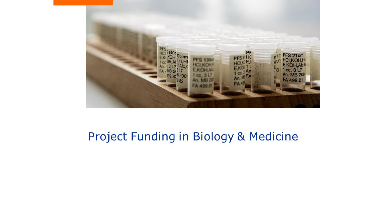 Project Funding in Biology & Medicine