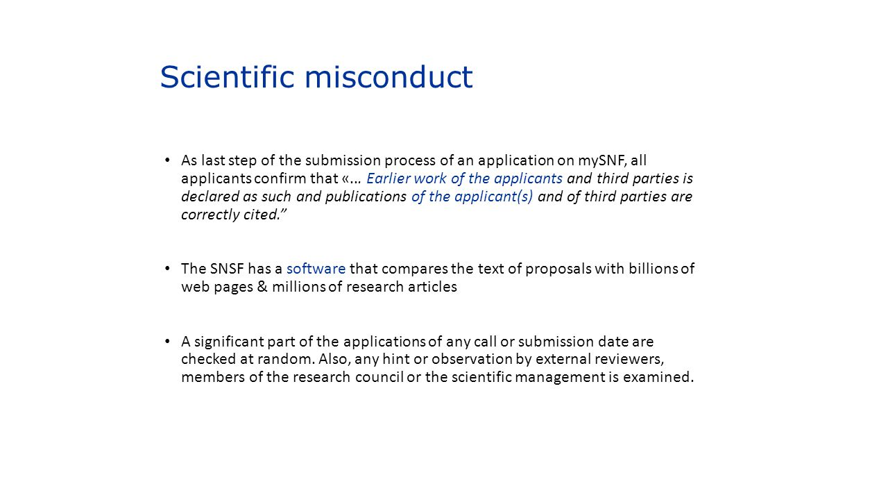 Scientific misconduct