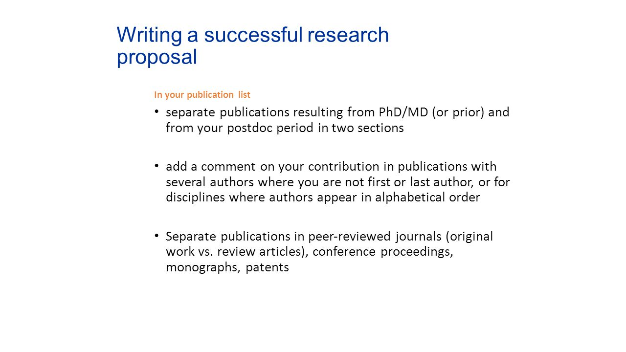 Research Proposal Postdoc